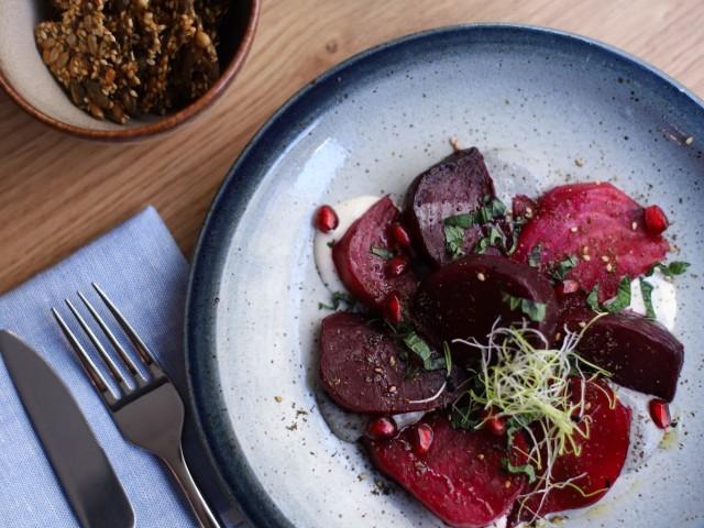 The Friendly Kitchen Betteraves rôties au zaatar