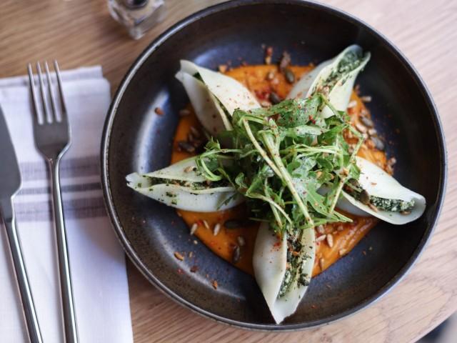 The Friendly Kitchen Conchiglie ricotta & épinards